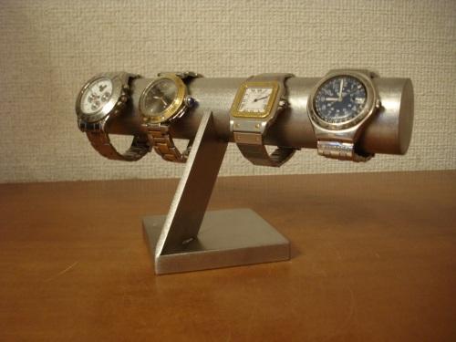 4本掛けステンレス腕時計スタンド