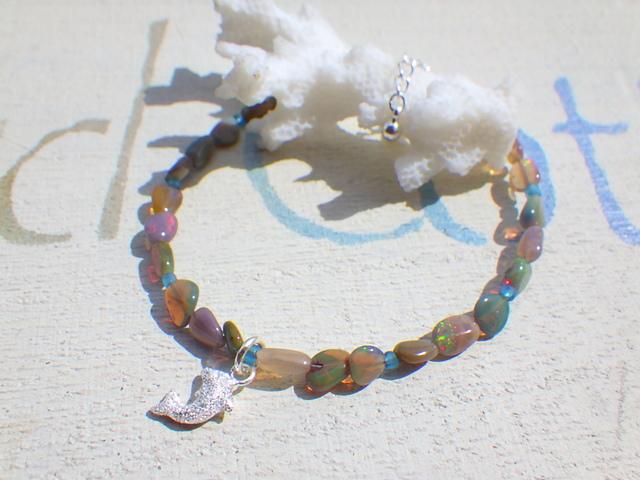 ??再販??Opal Dolphin Bracelet sv925