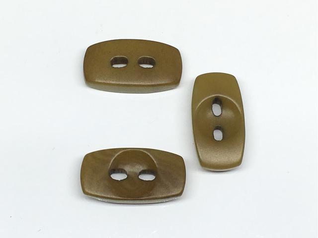 ボタン:長方形(S)/オリーブ/3コ入<92>