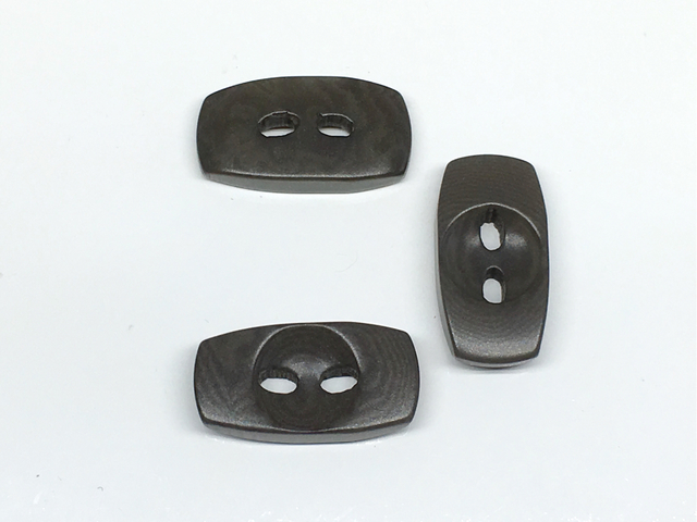 ボタン:長方形(S)/ダークグレー/3コ入<93>