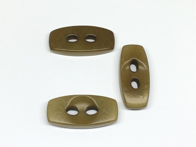 ボタン:長方形(L)/オリーブ/3コ入<96>