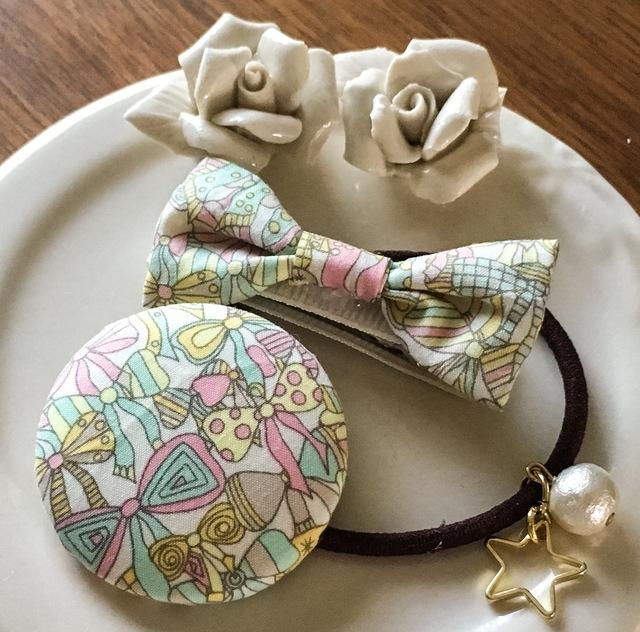 ママとお揃いリバティ☆ Jenny's Ribbons オシャレセット バニラ