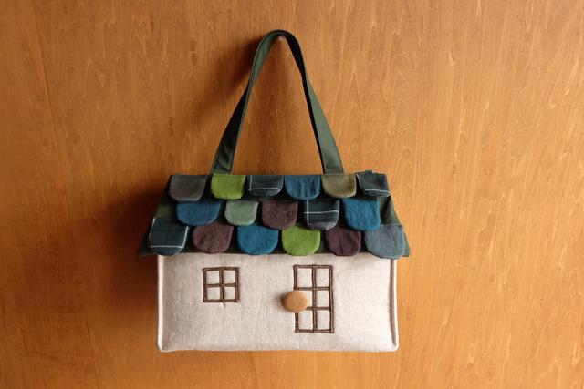 OUCHI box bag L  greenmix