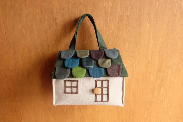 OUCHI box bag S ���greenmix