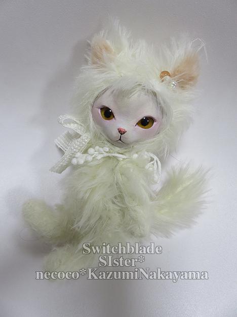 フェイスタイプドール*猫(オフホワイト・イエローアイ)