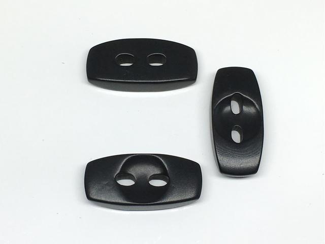ボタン:長方形(L)/ブラック/3コ入<98>