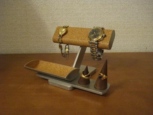 腕時計スタンド スタンダード腕時計、リング、小物入れ付きアクセサリースタンド リングスタンド固定、トレイ端蓋あり
