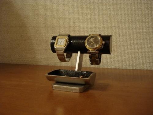 誕生日プレゼントにいいですよ!とても可愛い小物入れトレイ付きブラック腕時計スタンド