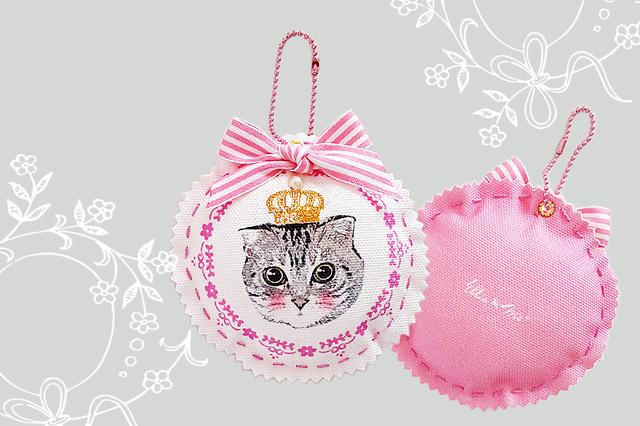 猫好きさんのキュートなにゃんこチャーム (Pink)