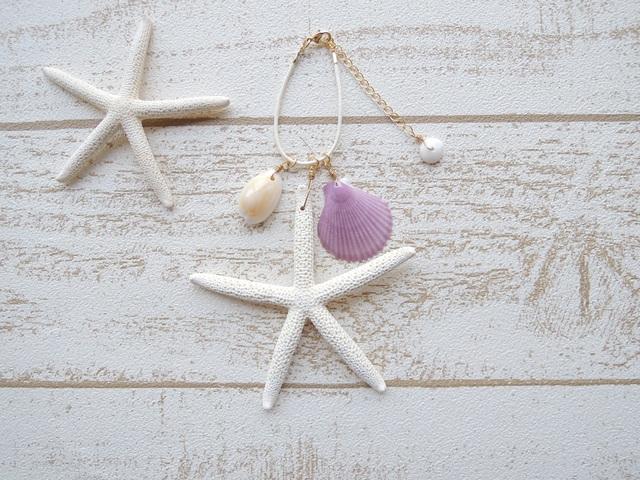 Shell & Star Fish �Хå����㡼�� White