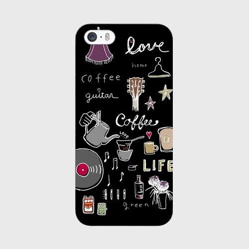 iphoneケース《LIFE》黒