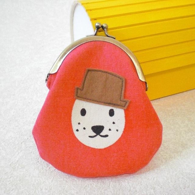 帽子イヌがまぐち red