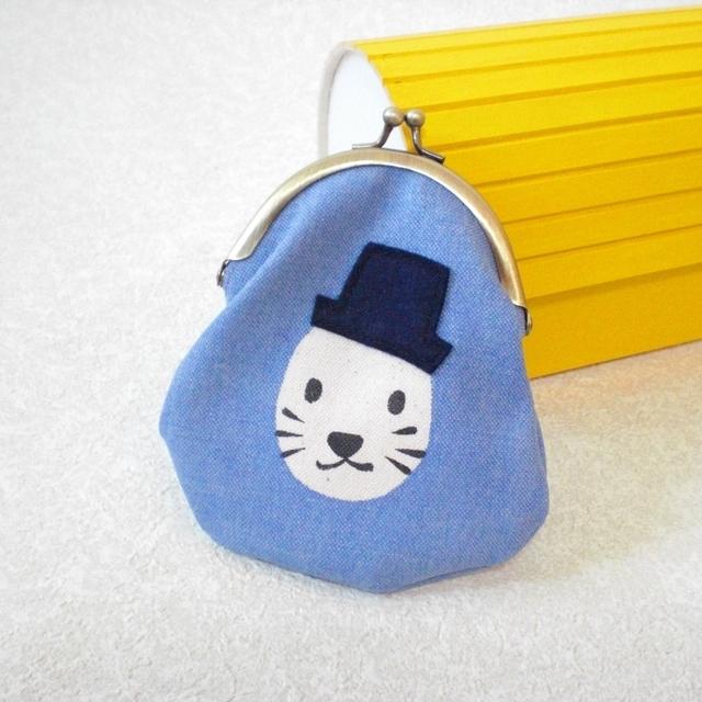 帽子ネコがまぐち lavender