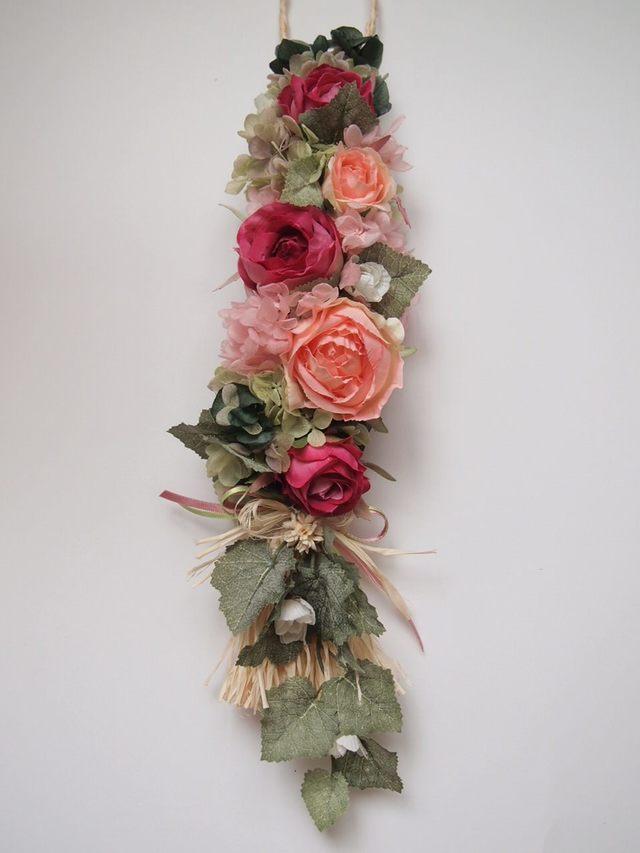 sawa-ya ~ 壁掛け ラフィアの三つ編みガーランド