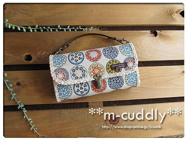 北欧調 可愛い絵皿  長財布バッグ