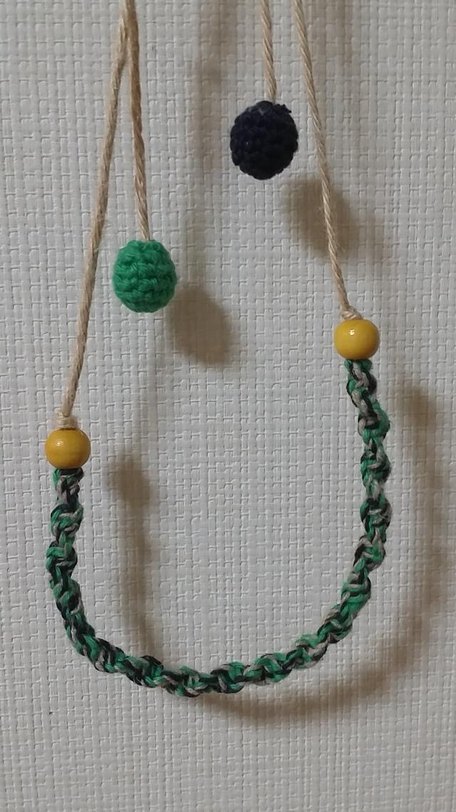 麻ひもネックレス(緑)
