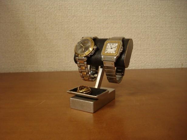 小さいトレイ付き腕時計スタンド ブラック