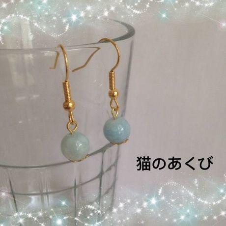 新春セール送料☆彡5 ピアス(ニッケルフリー)アクアマリン