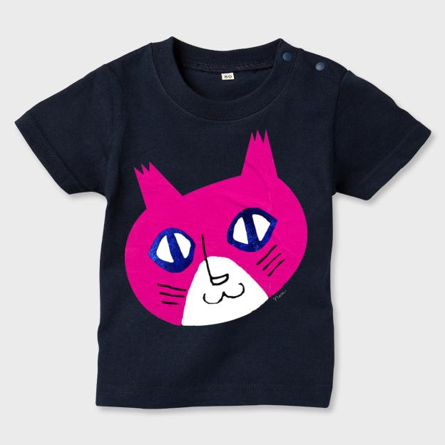 ギターネコ(顔)Kid'sT-shirts(70-90)