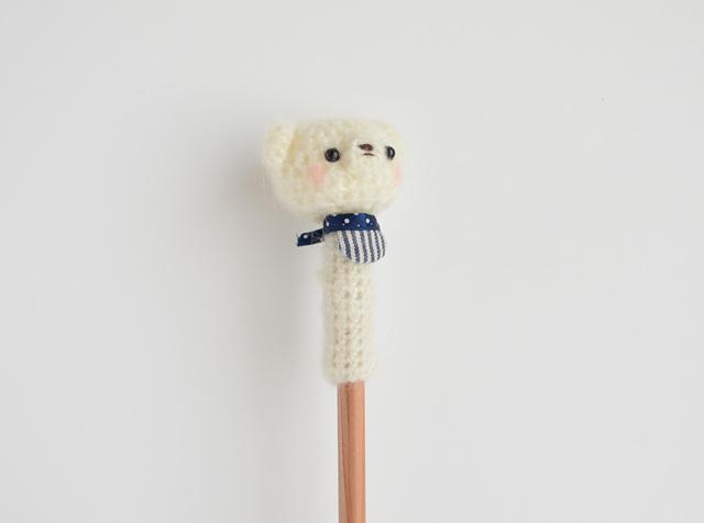 シロクマ鉛筆帽子 stripe