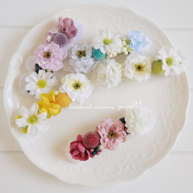 Happy Flower バレッタ ( 濃ピンク )