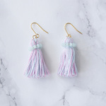 [Archive Price Down]  Tassel Swalovski Pierced Earrings - MINT SWALOVSKI