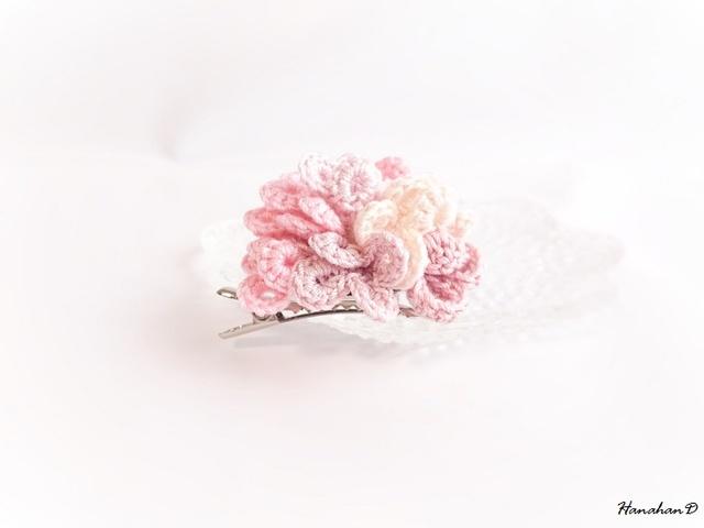 花まりブローチ ピンク2