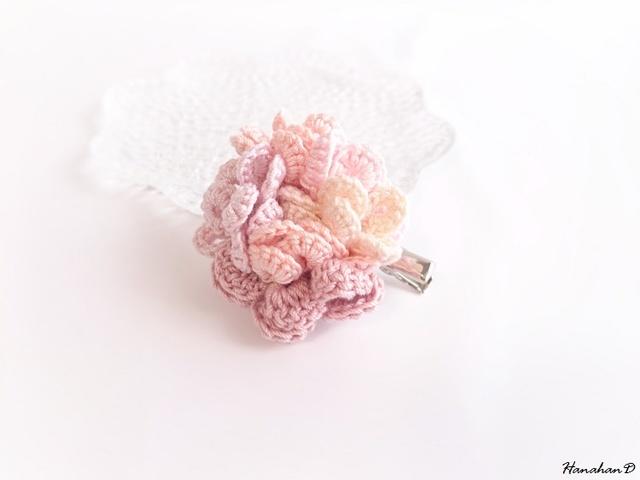 花まりブローチ ピンク1