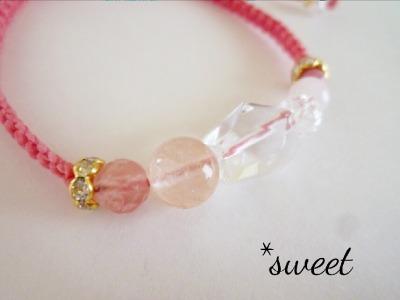 パワーストーンブレス* 【Sweet Heart】