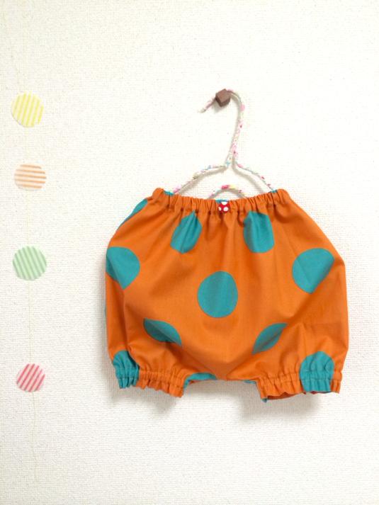 【再販】ビッグドットのかぼちゃパンツ