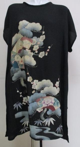 着物リメイク 色留袖で作ったチュニックワンピース 1734