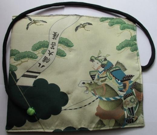 着物リメイク 男の子の正絹のお宮参り着で作った和風財布 1735