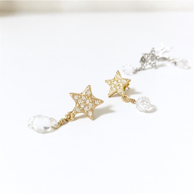 ��wish��pierce/earring��gold