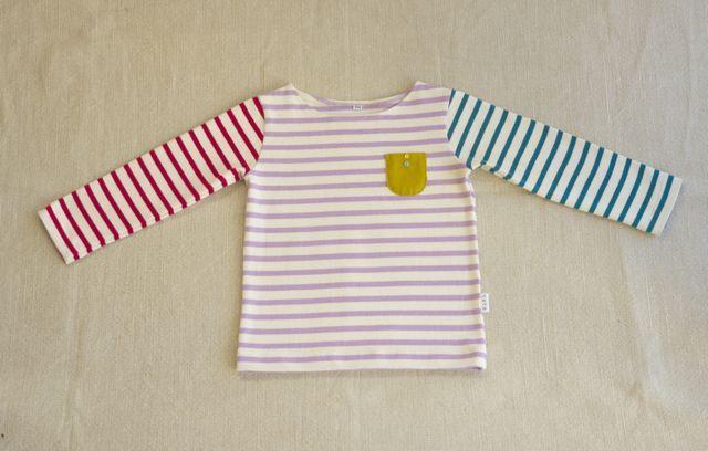【size100】3色のボーダーTシャツ(長袖)