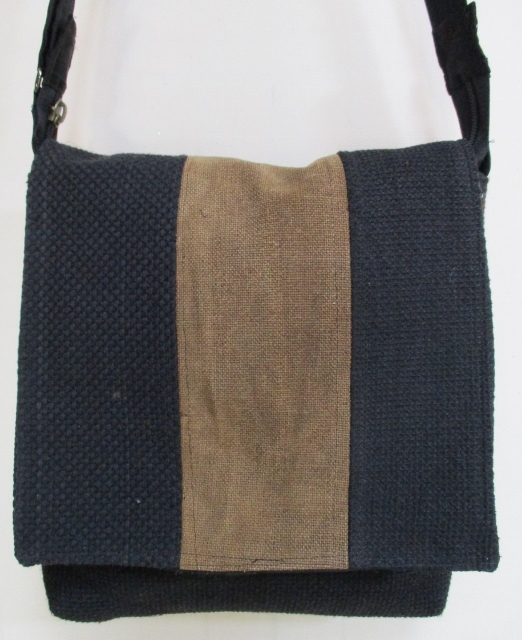 着物リメイク 消防団の服と酒袋で作ったショルダーバック1737