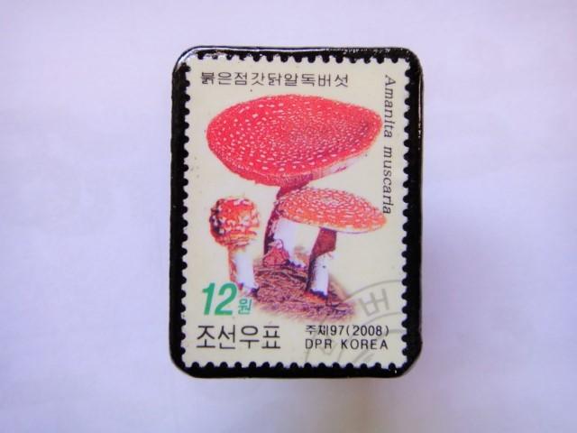 韓国 切手ブローチ1395