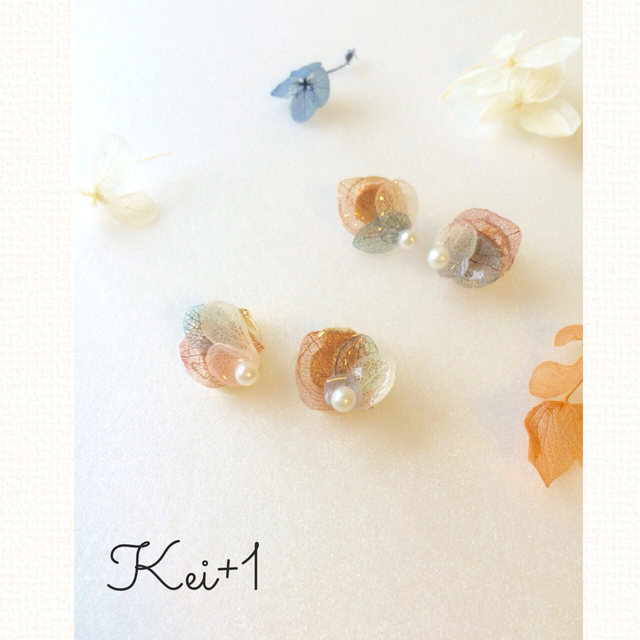 〜hirari〜   紫陽花ピアス&イヤリング