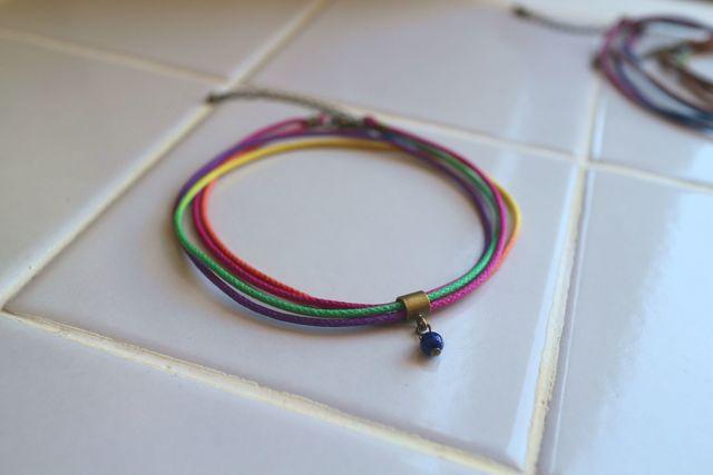 虹色アンクレットGC(スタンダード)*ラピスラズリ