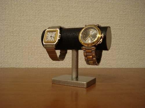 時計スタンド 角台座2本掛け腕時計スタンド ブラック