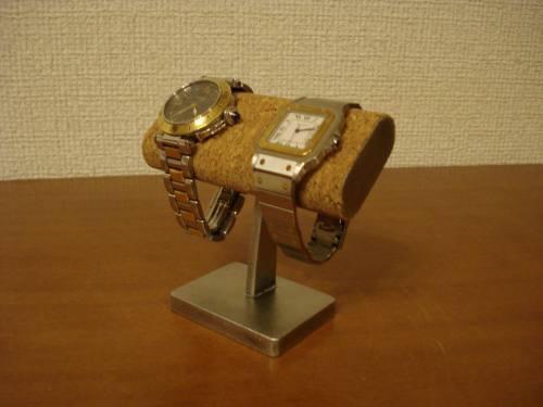 時計スタンド だ円小粒な2本掛け腕時計スタンド
