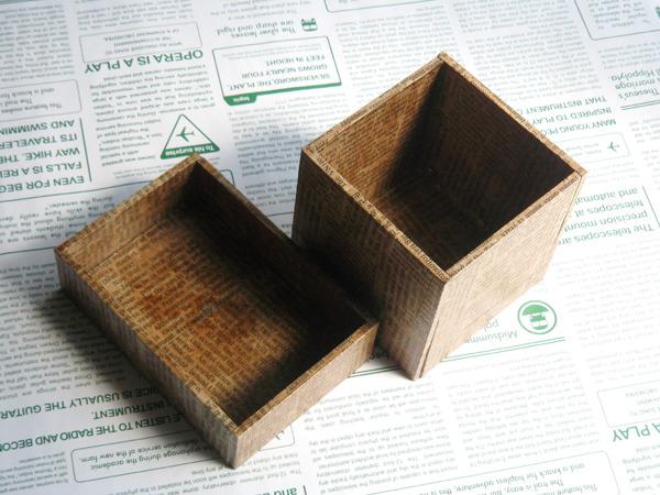 英字の小箱セット(チーク)