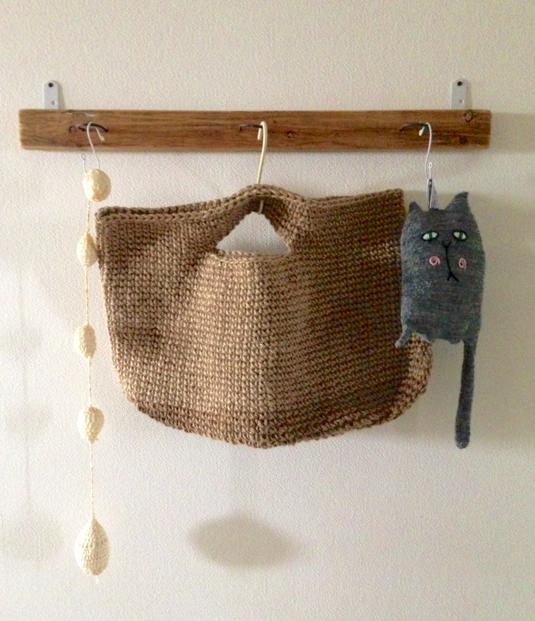手編み麻紐バッグ