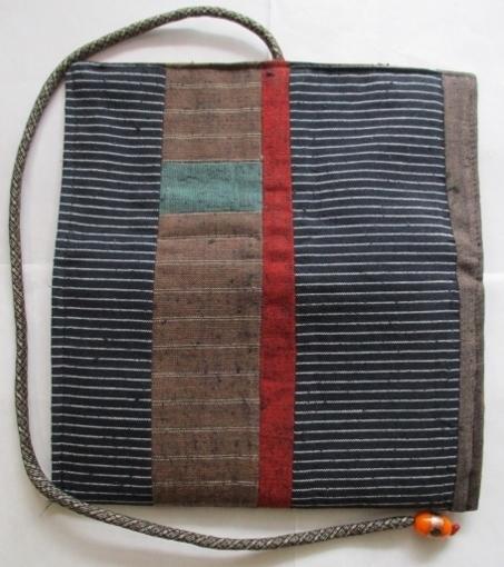 着物リメイク 四国の土佐紬で作った和風財布 1743
