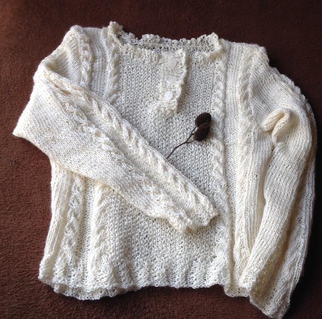 編み模様のサマーセーター