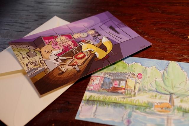 オリジナルイラスト ポストカード 3枚