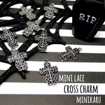 🎃300円均一🎃 8pcs)mini lace cross charm