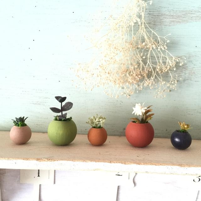 ◎コロコロ植木鉢 オータムカラー5個セット.