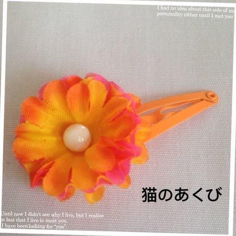 新春セール送料☆彡18 パッチンピン オレンジピンク