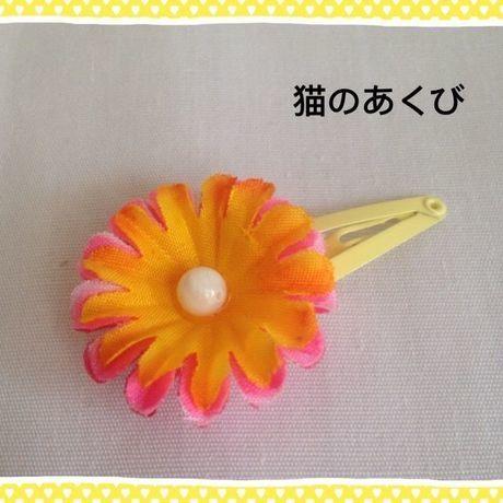 オープニングセール【送料込】25 パッチンピン  ミックスオレンジ