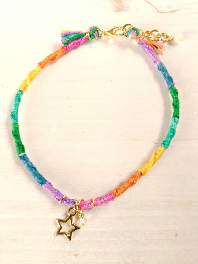 <再販>MICANGA ANKLET Rainbow STAR